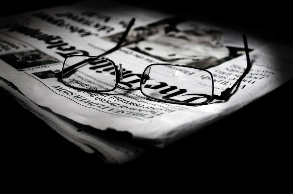 article, background, broadsheet