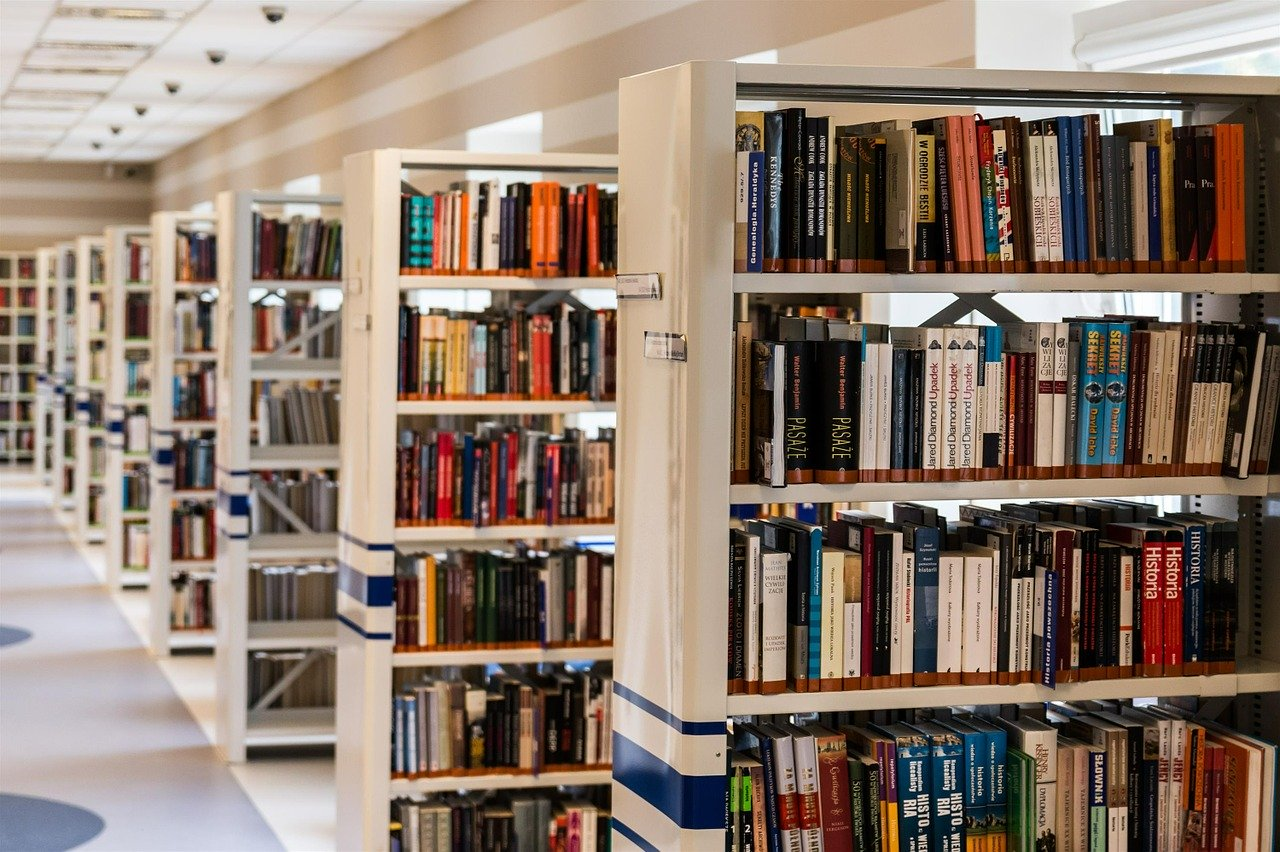 library, book, reading